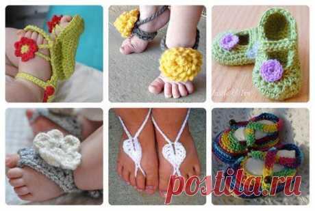 Идеи вязаных сандалик для малышей Вы любите вязать? Тогда эти красивые проекты не оставят вас равнодушными! Такая красота может стать прекрасным подарком — и будет выглядеть просто очаровательно на маленьких ножках. Многие варианты са...