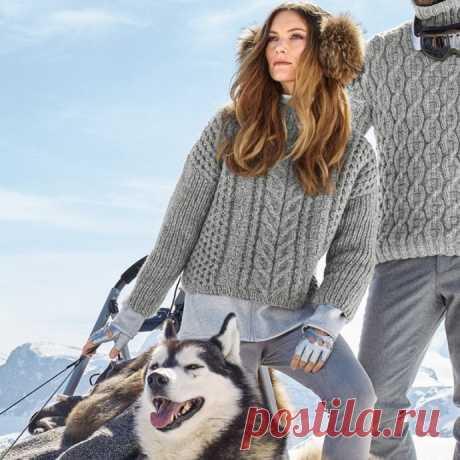 Вяжем укороченный свитер