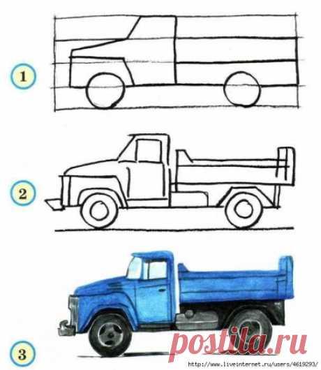 Рисуем транспорт - Поделки с детьми | Деткиподелки
