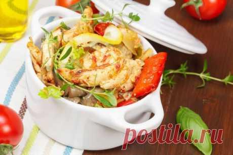 Соте из цыпленка, кабачков и вешенок в соусе карри — Sloosh – кулинарные рецепты