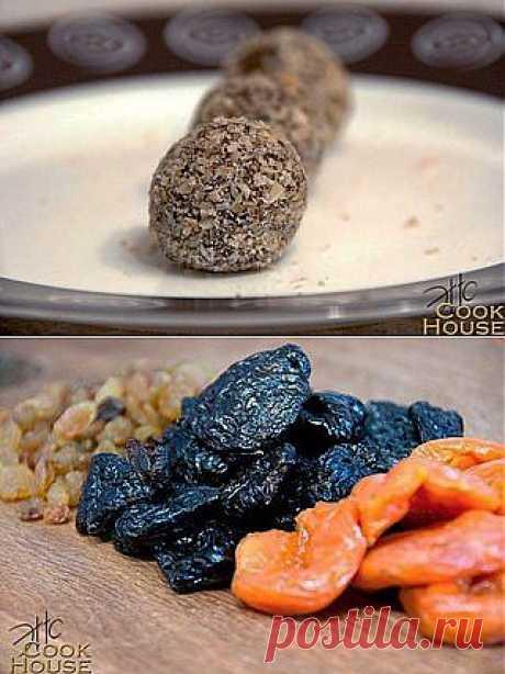 Конфеты из сухофруктов (полезные конфеты) | Готовим вместе