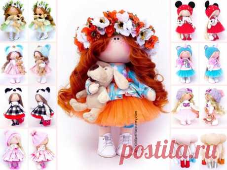 Handmade Tilda Doll, Interior Decor Doll, Birthday Girl Gift, Nursery Art Doll, Summer Love Gift, Rag Baby Doll, Poupée  Muñecas by Irina S Hello, dear visitors!  This is handmade textile doll created by Master Irina S (Krasnodar, Russia). Doll can be made by Order. Doll is 28 cm (11.02 inch) tall.  All dolls on the photo are made by master Irina S. You can see all dolls by Maria L by search in our shop: