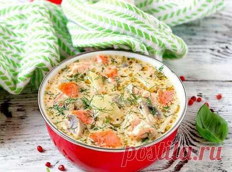 Сырный суп с форелью и грибами | Еда.ру | Яндекс Дзен