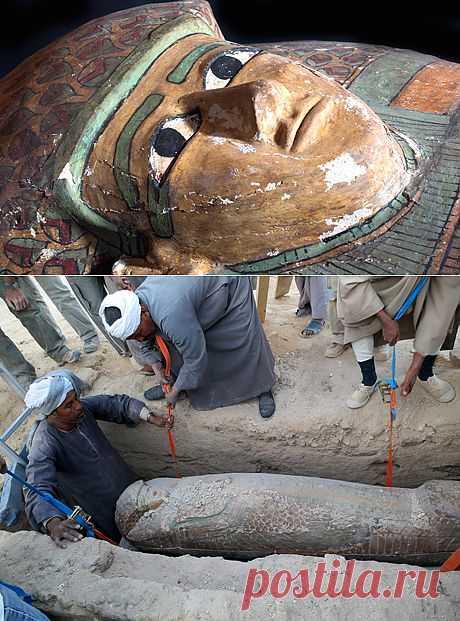"""В Египте найден деревянный саркофаг 17-й династии   """"Secret worlds"""""""