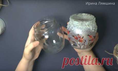 DIY: Идеи декора обычных стеклянных банок   Творчество и искусство   Яндекс Дзен