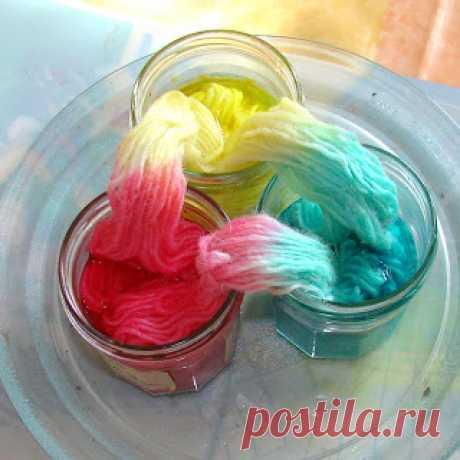 Окраска пряжи в микроволновке