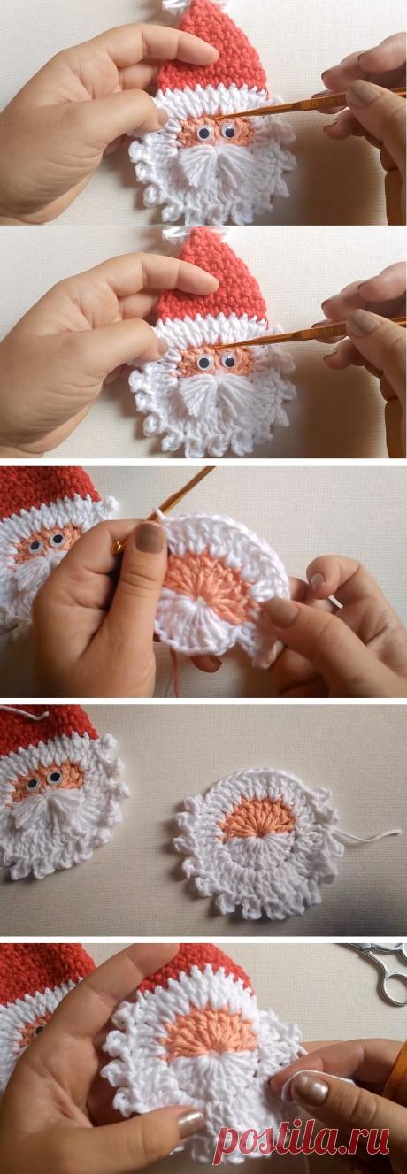 Crochet Santa Applique – Christmas Pattern - Design Peak
