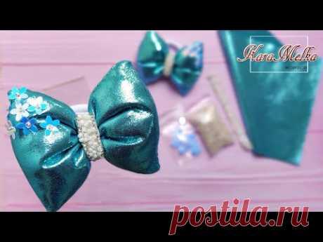 Бантики-пухляши: объемные бантики своими руками/ DIY puffy bows/ pillow hair bow