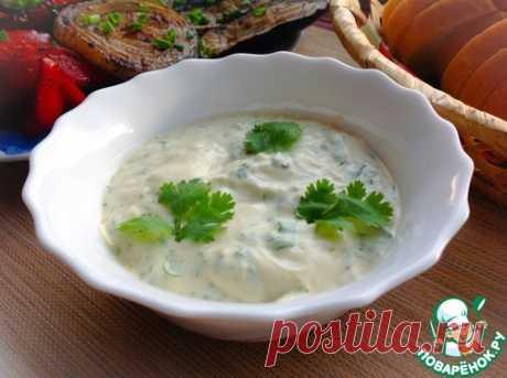 Соус с зеленью и киви - кулинарный рецепт