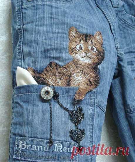 Решили обновить свои джинсы? Вот вам идеи. Оцените.
