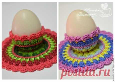 Вяжем подставку для пасхального яйца в стиле мандала – мастер-класс для начинающих и профессионалов