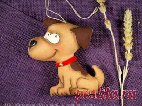 Шьём озорную кофейную собачку к Новому году - Ярмарка Мастеров - ручная работа, handmade