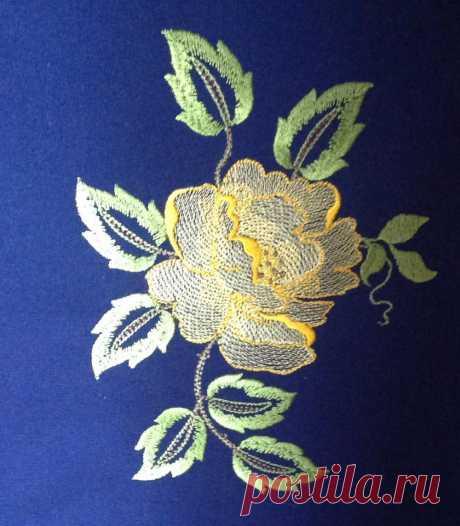 Perfect Rose дизайн машинной вышивки
