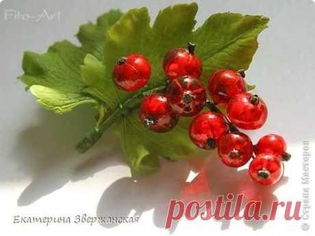 Красная смородина из ювелирной эпоксидной смолы
