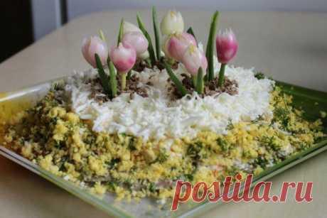 Оригинальное оформление салатов