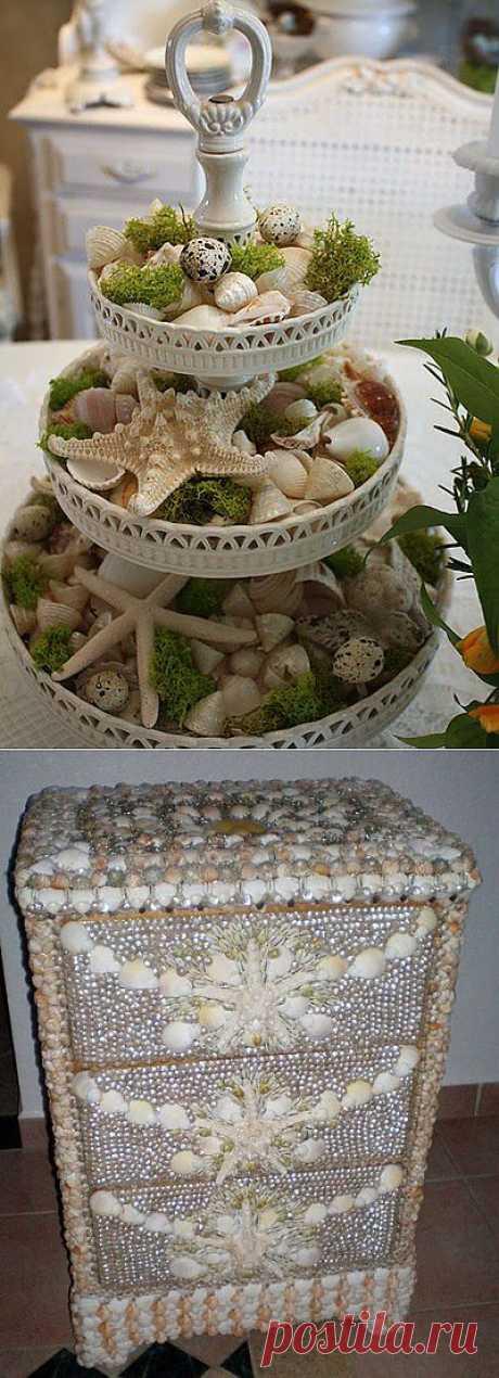 Декор из ракушек.
