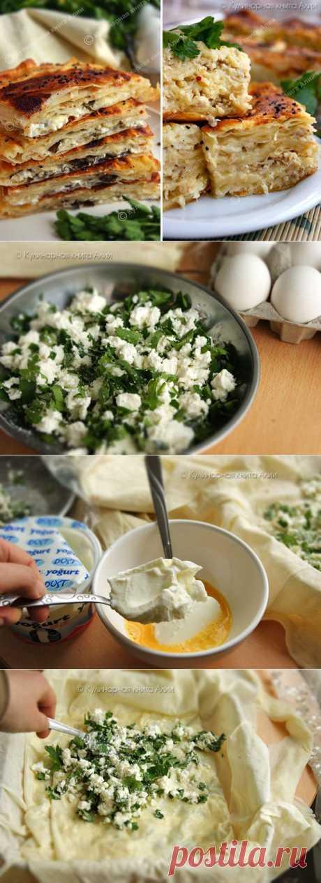 Börek с сыром и с фаршем (турецкая кухня).
