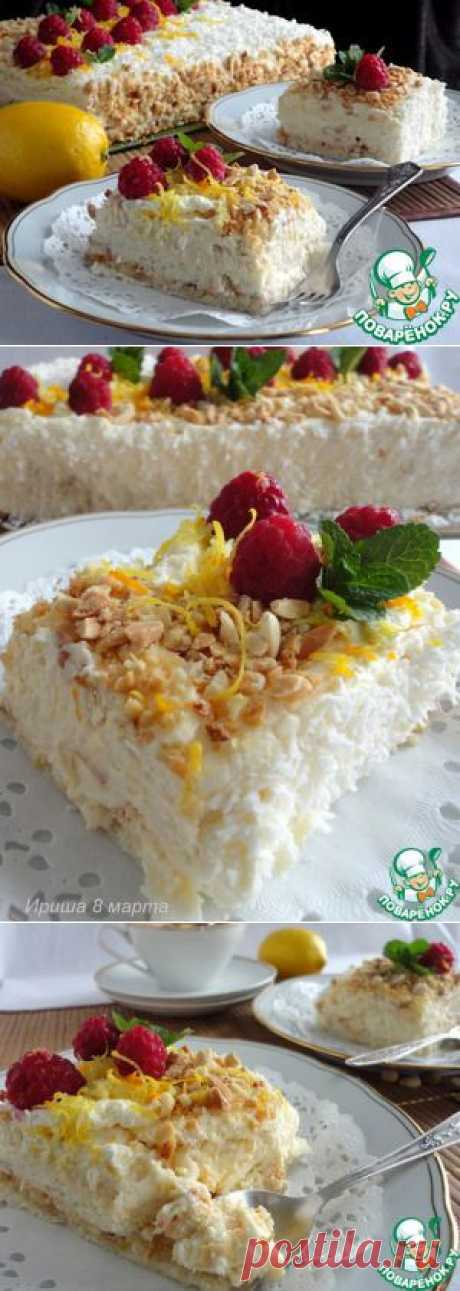 Нежный сливочный торт с безе - кулинарный рецепт