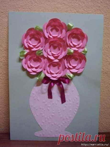 Ваза с цветами из бумаги — Поделки с детьми