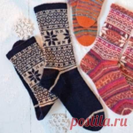 Мужские носки с норвежским узором