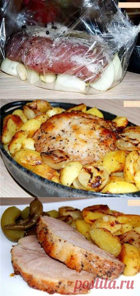Украшение любого праздничного стола — Буженина, запеченная в рукаве с деревенской картошечкой - interesno.win