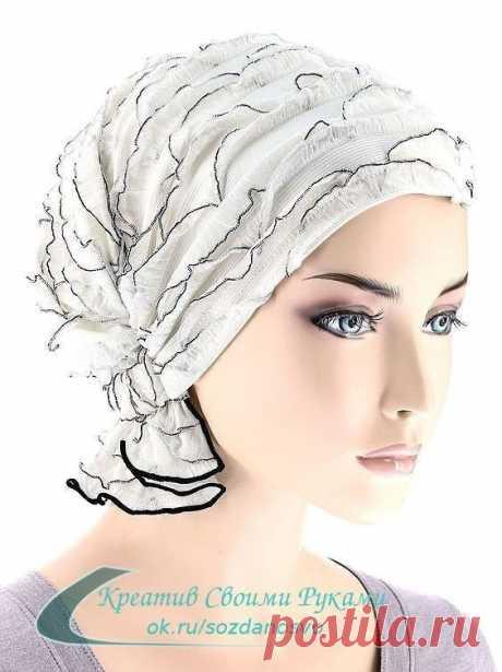 Оригинальный головной убор к весне можно сшить своими руками.