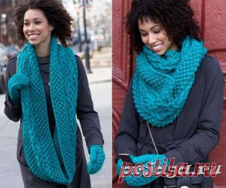Scarf – a collar and mittens spokes