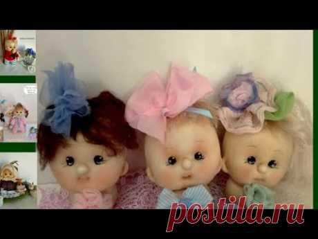 Кукла из капрона.Сделать голову куклы из колготок в чулочной технике... Cabeza estilo soft
