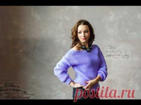 Анонс МК свитер платочной вязки спицами от Миланида (платный МК)