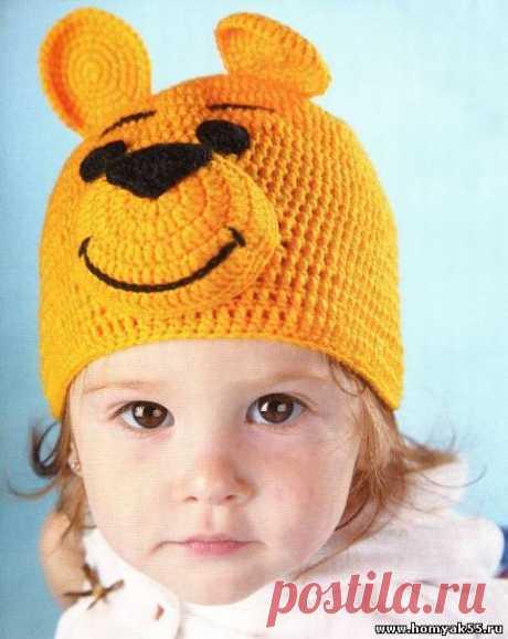 Детская шапка крючком схема и описание » Страница 5