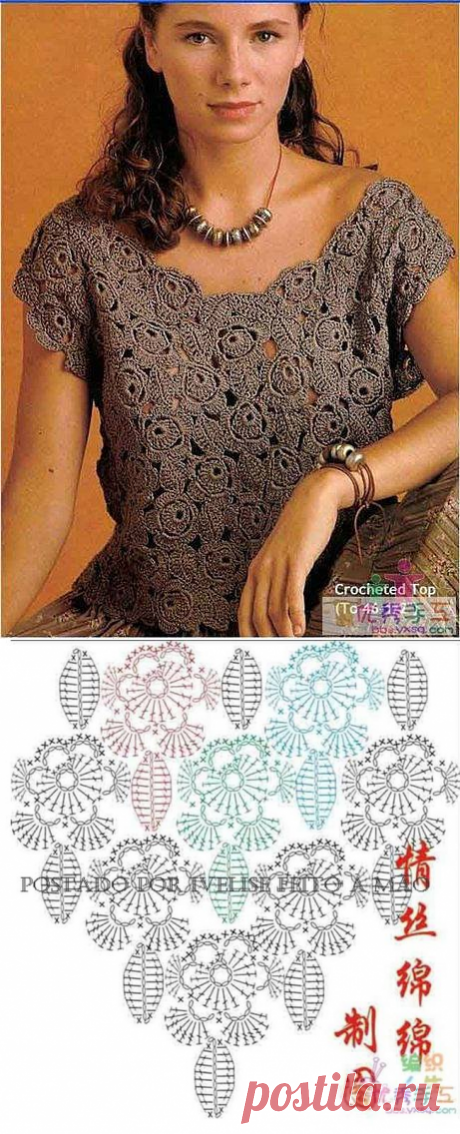 вязание-крючок блузки | Записи с меткой вязание-крючок блузки | Дневник Liudmila_Sceglova