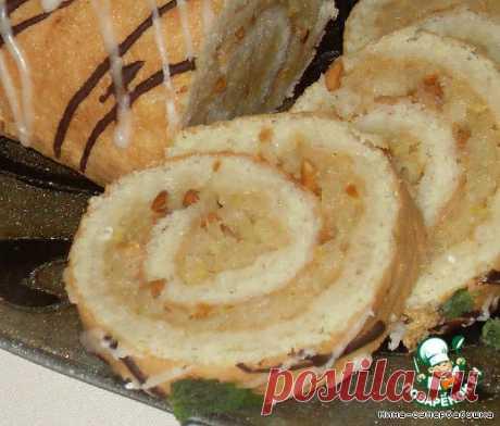 Пандишпановый рулет с яблоками