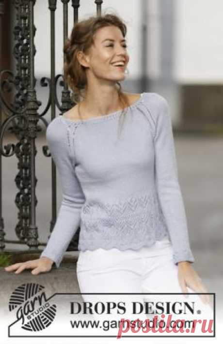 Jumper a raglan spokes with fantasy openwork the Womanly jumper spokes executed from a yarn on the basis of wool of the alpaca with silk addition. Knitting of a women's jumper is carried out around from...