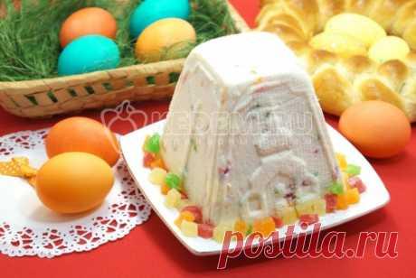 Заварная творожная пасха Заварная творожная пасха с цукатами, вкусное блюдо из творога для пасхального стола, которое любят как взрослые, так и дети.