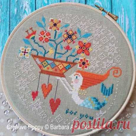 Barbara Ana Designs - Flowers from the Sea (cross stitch pattern)