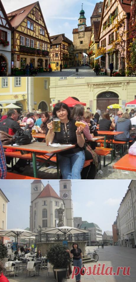 Баварский Ротенбург - заповедник фахверкового Средневековья