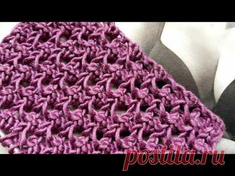 Рельефный узор спицами ,,Ежевика,, 🍇 crochet pattern. Strickmuster. Tricot. How to knit.