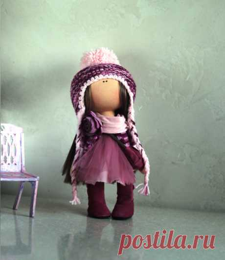 Winter doll Handmade doll Russian doll Cloth by AnnKirillartPlace