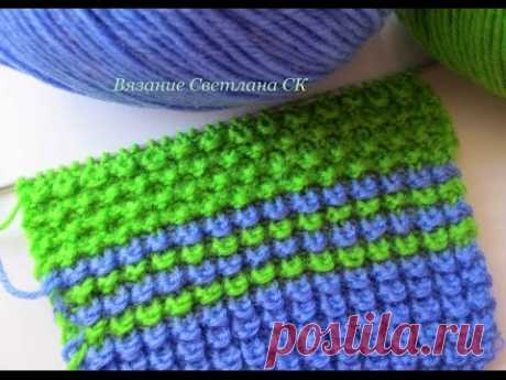 Pattern spokes options of knitting of a pattern corn