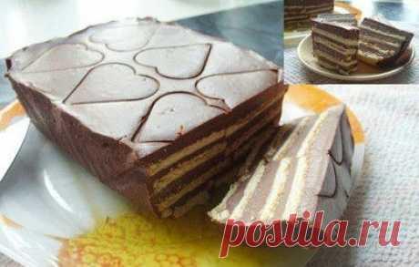 La torta de chocolate sin cocción.