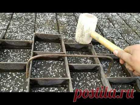 Тротуарная плитка за копейки своими руками