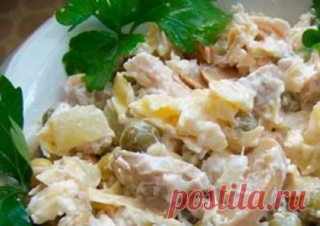 Салат Пина-Колада. В ресторане подают порцию за 1200, я готовлю за 250 рублей | Отчаянная Домохозяйка | Яндекс Дзен