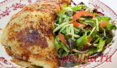 Необычный большой драник с начинкой - вкусное блюдо на обед или ужин
