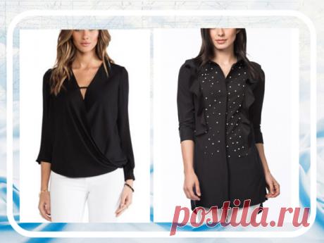 ЧЕРНАЯ РУБАШКА   Черная рубашка - базовый элемент гардероба.  Важная особенность подобного элемента одежды — ее универсальность. Она уместна в деловом и повседневном стиле, с ее помощью легко создать интересный гранж или рокерский образ. Она также сочетается с джинсами и классическими костюмами, как и белая. А если модель шелковая или прозрачная, украшенная декором, то она вполне подходит для вечернего выхода. А бонусом к этому является то, что они очень стройнят – так что...