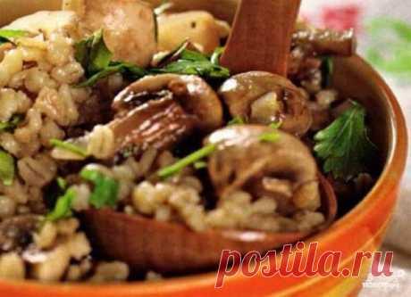 Перловка с грибами в горшочке - пошаговый кулинарный рецепт с фото на Повар.ру