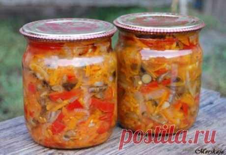 Рецепт грибной солянки с капустой на зиму