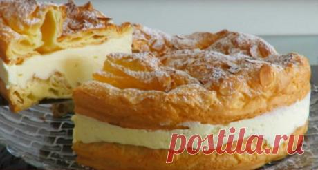 Польский торт «Карпатка». Оригинально и безумно вкусно! Непередаваемо вкусный торт из заварного теста и крема, который можно использовать в качестве главного достоинства любого праздничного стола.