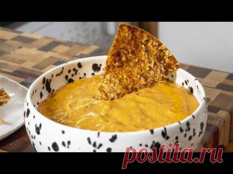Как в кинотеатре. Сырный соус с мясом для чипсов. Начос из лаваша.