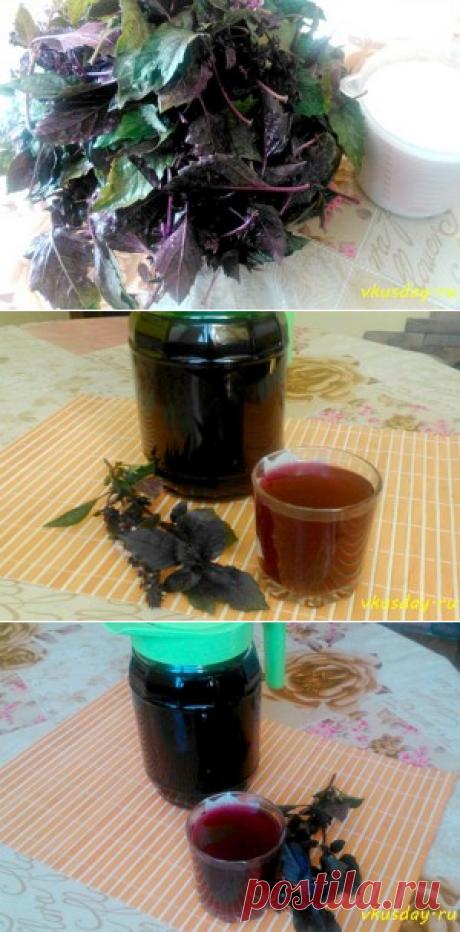 Напиток из базилика - райхон сладкий напиток - Вкусный день