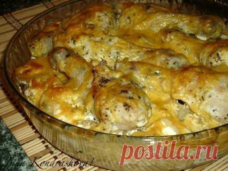 Аппетитная и румяная картошка с куриными ножками в духовке Прекрасное блюдо для семейного обеда или ужина!